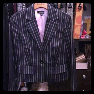 Bebe Pinstriped Suit